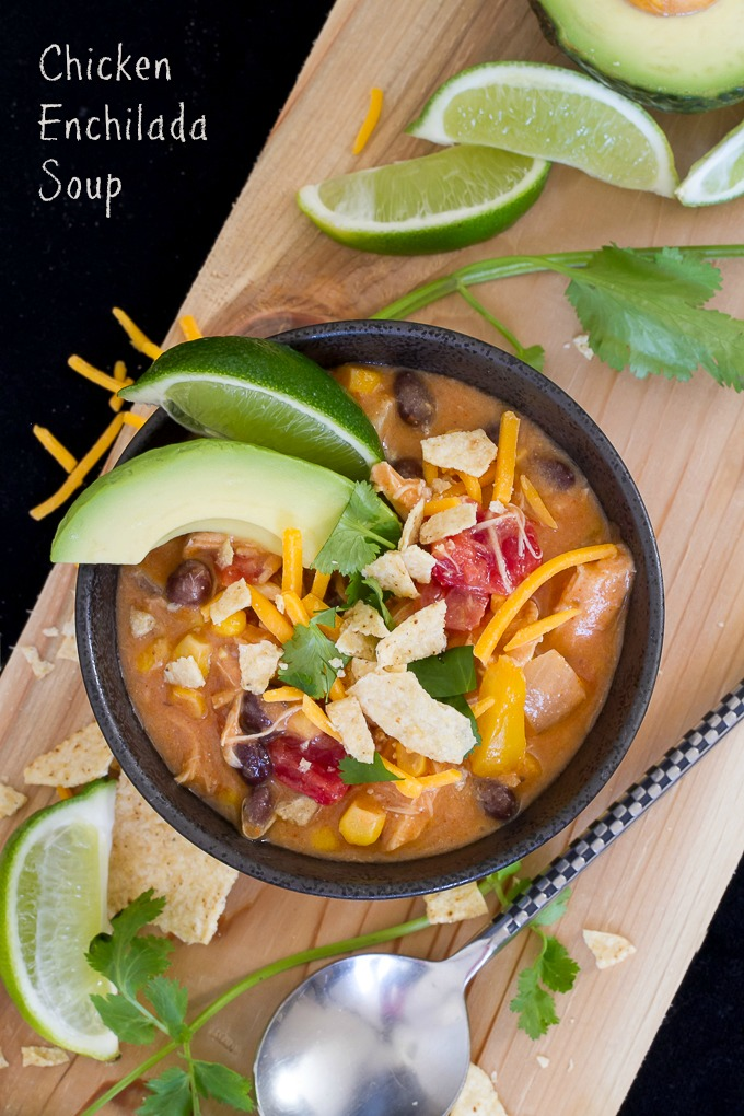 Creamy Chicken Enchilada Soup is quick, easy and delicious!
