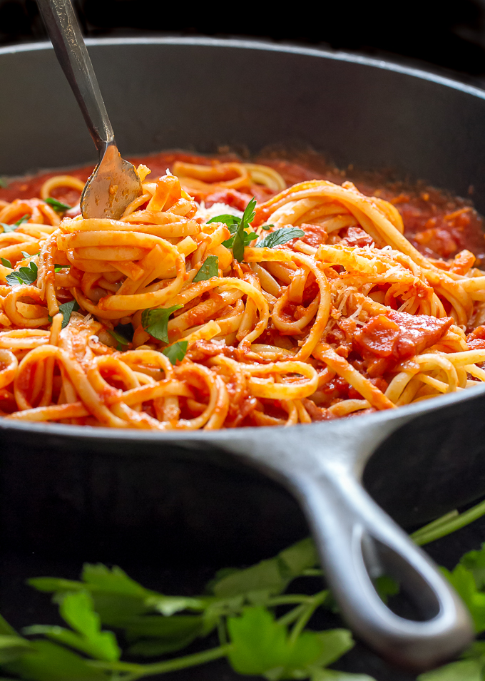 15-Minute Mediterranean Pasta   Girl Gone Gourmet