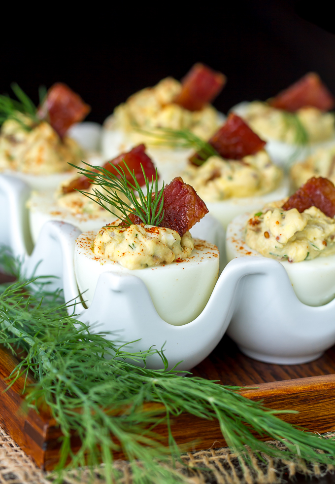 These Candied Bacon Deviled Eggs are my favorite!