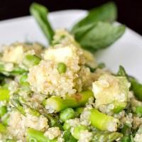 Spring Quinoa Salad with Asparagus, Avocado, Peas & Basil
