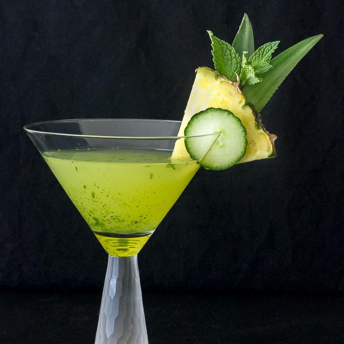 Cucumber Pineapple Mint Martini