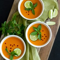 Red Curry Carrot Sweet Potato Soup