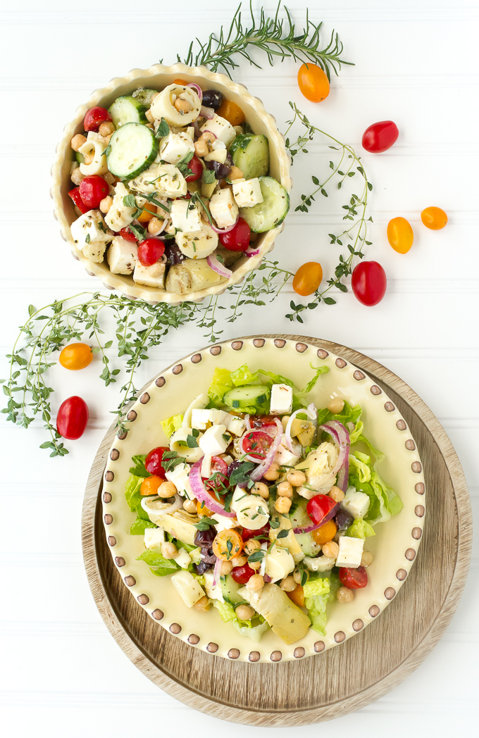 Greek Chopped Salad has all the good stuff from a greek salad and more!