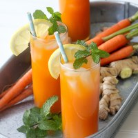 Ginger Mint Carrot Coolers - can be made with or without alcoholl