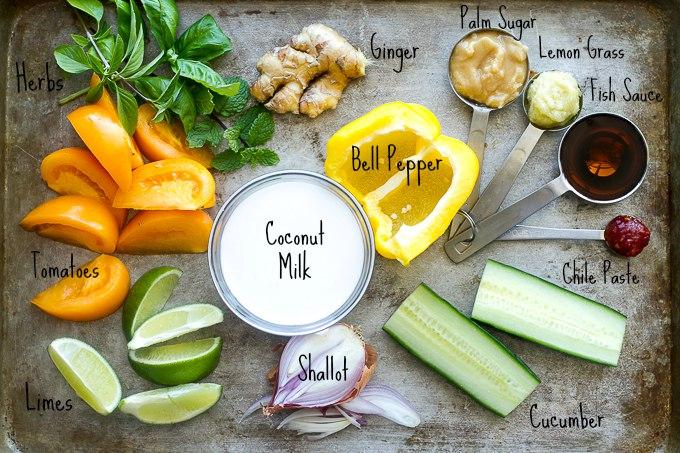 Thai Gazpacho Ingredients