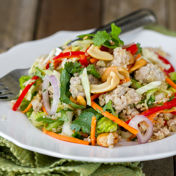 Thai Pork Quinoa Salad - light, fresh, healthy & delicious!