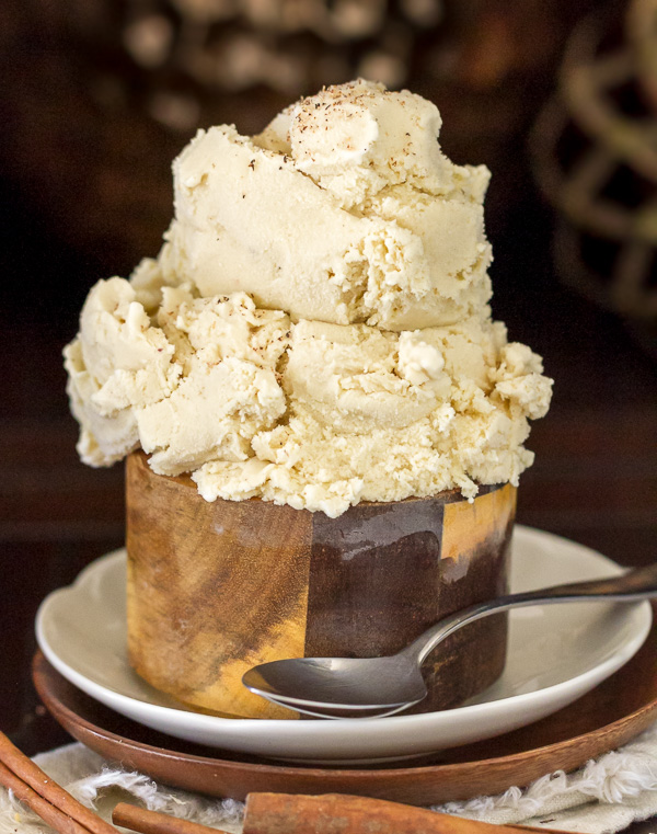 Spiked Eggnog Ice Cream