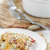 Reuben Bread Pudding - just as delicious as the sandwich but served up as a savory bread pudding