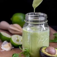 Avocado Cilantro Lime Sauce is fantastic on salad, grilled meats and tacos!