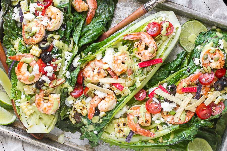 Southwestern Grilled Romaine Salad