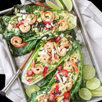 Southwestern inspired Grilled Romaine Salad