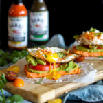Layered Sweet Potato Toast Stacks