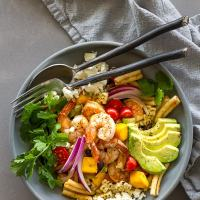 Mexican Chipotle Pasta Salad with Shrimp