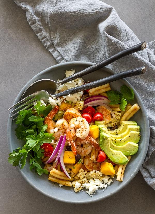 Chipotle Shrimp Pasta Salad Bowl