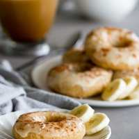 Baked Banana Donuts with Brown Butter Glaze
