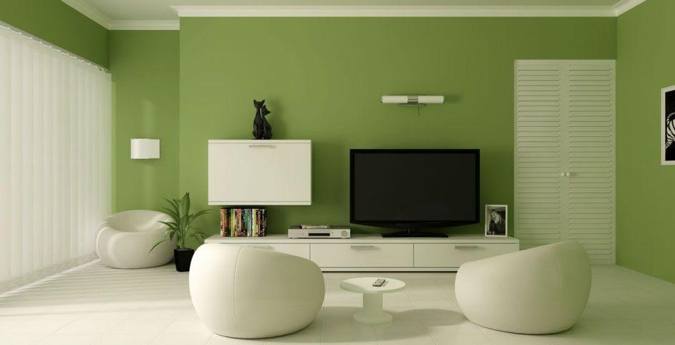 El color verde para pintar un salón