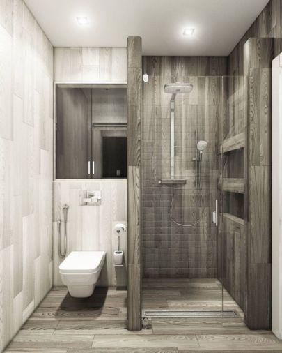 Reforma de baño imitación a madera