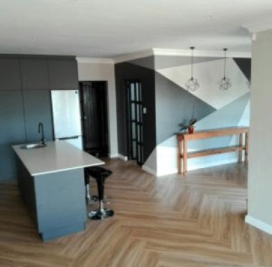 Salón cocina pintados con Imdetec obras y reformas
