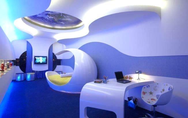 habitación y decoración futurista