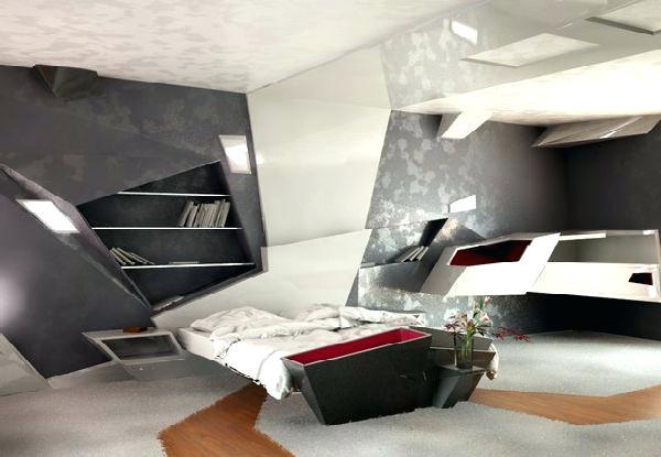 muebles y decoración futurista