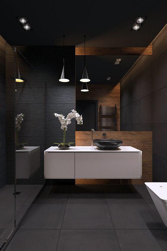 tonos oscuros para baños