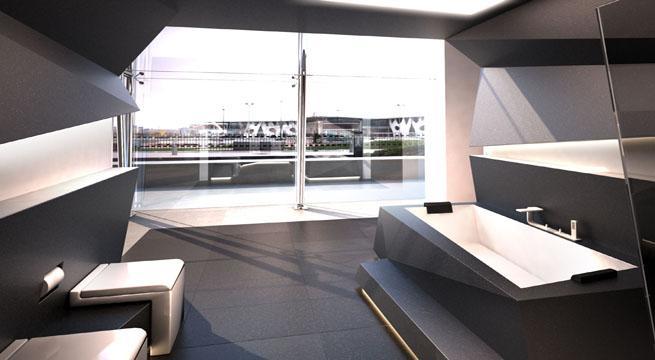 decoraciones espectaculares para tu hogar - baños futuristas