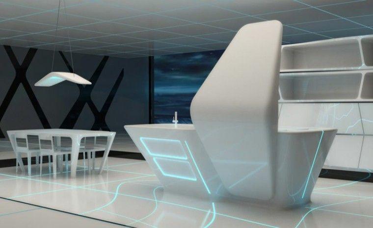 decoraciones espectaculares para tu hogar - cocina futurista