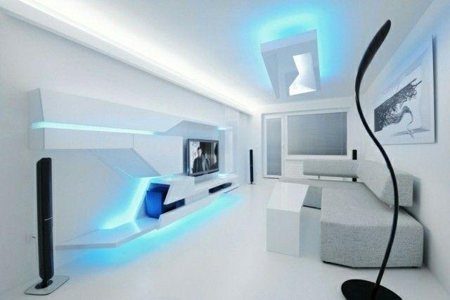 decoraciones espectaculares para tu hogar - salón futurista
