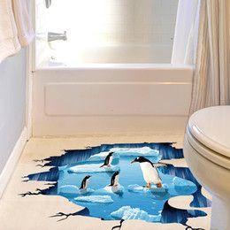 vinilo decorativo con pinguinos para suelos