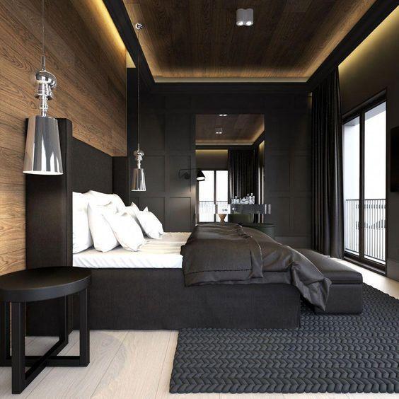 Lo mejor en decoración de interior y exterior, habitación de techo de hormigón
