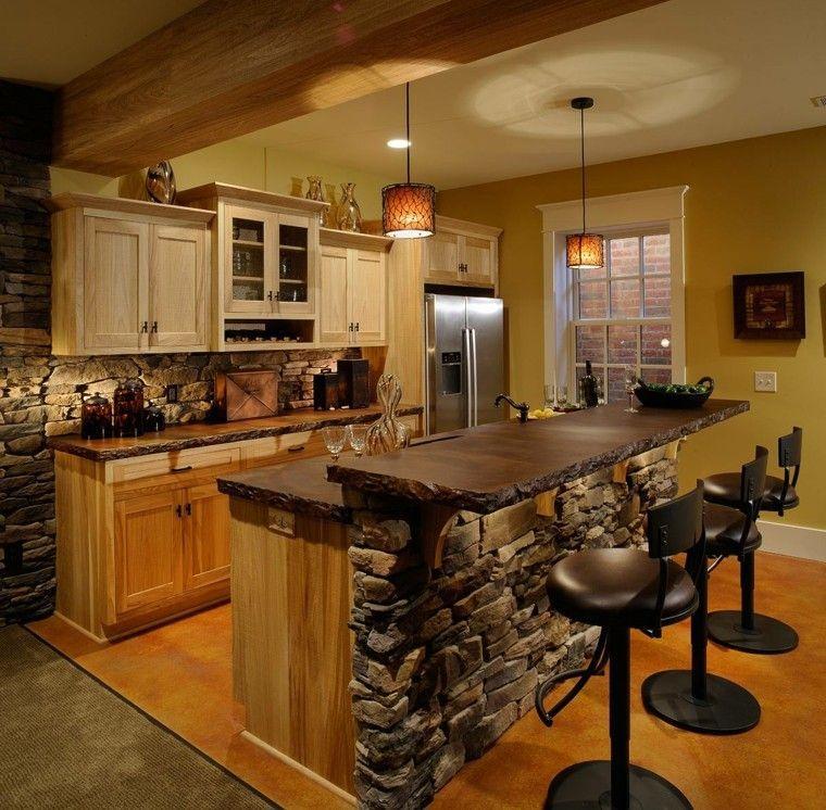 decoración de cocinas pequeñas modernas y elegantes - rústicas