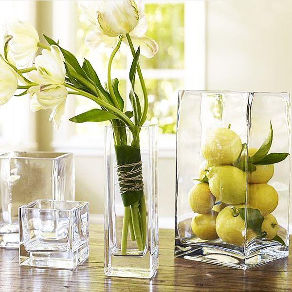 Decoración con jarrones de cristal (12)
