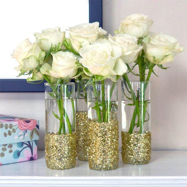 Decoración con jarrones de cristal (6)