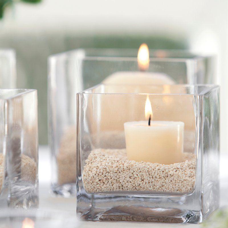 Decoración con jarrones de cristal (7)