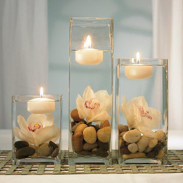 Decoración con jarrones de cristal (9)