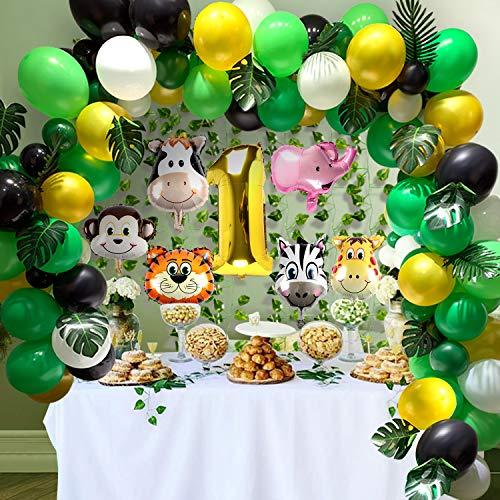 decoración con globos mylar figuras