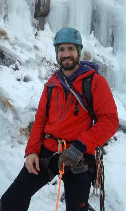 New Hampshire ice climbing guide Paul McCoy.