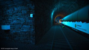 Visualisierung Tunnel Poynting Antenne