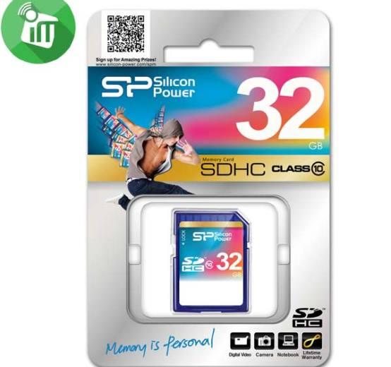 Silicon- Power- SDHC- 32GB- Class -10 -Memory -Card (1)