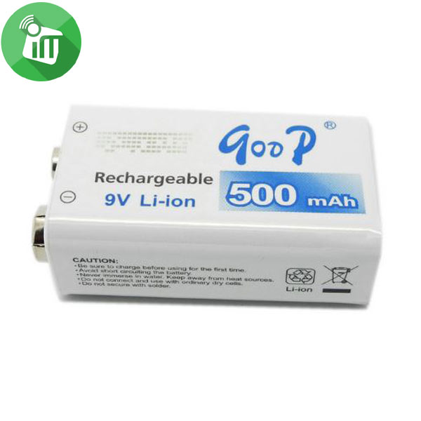 qoop GD 9V 500mAh Rechargeable Li-ion Battery (4)