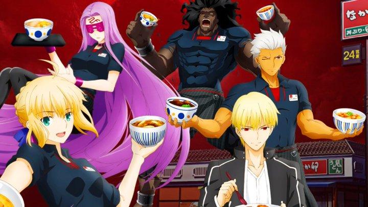 Los personajes de Fate/stay night: Heaven's Feel's se convierten en trabajadores de restaurantes