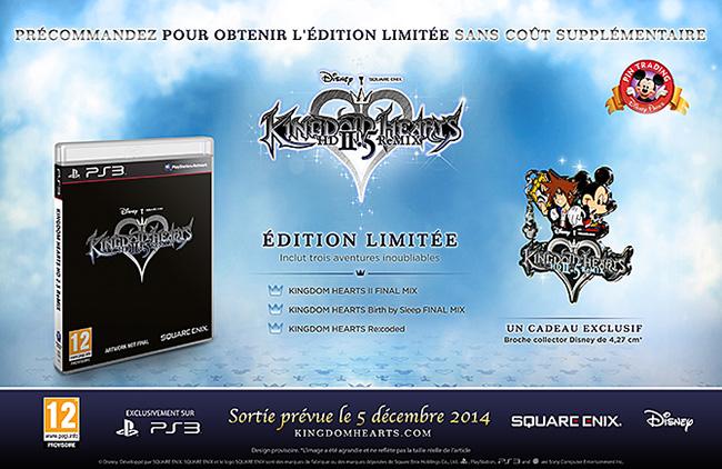Actualité - éditions spéciales Kingdom Hearts HD ReMIX - précommande européenne