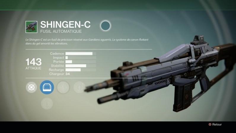 Arme principale Shingen-C