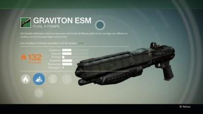 Arme secondaire Graviton ESM