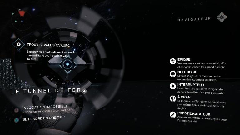 Actualité - Destiny : journal de bord, jour 12 à 15 - modificateurs assaut nuit noire