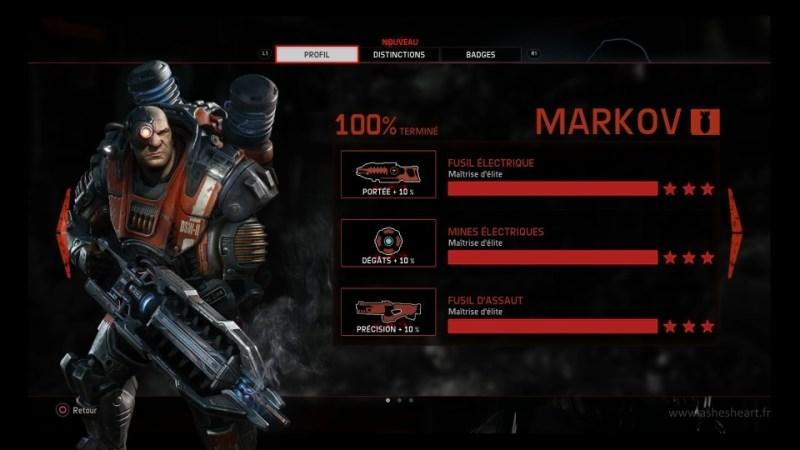 La maîtrise de chaque arme de Markov