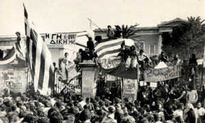 Η εξέγερση του Πολυτεχνείου το Νοέμβριο του 1973  ήταν η αρχή του τέλους της δικτατορίας