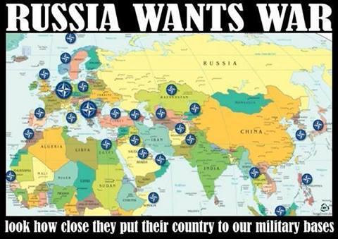 Η περικύκλωση της Ρωσίας από τις βάσεις του ΝΑΤΟ