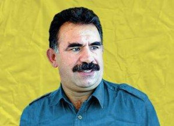 Flag with Ocalan