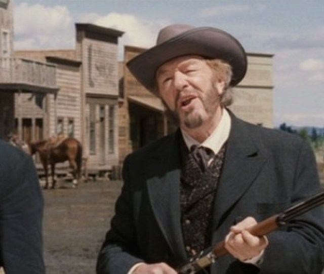 Denton Baxter Michael Gambon Meets With Boss And Waite Before The Shootout Armed With A 73 Rifle